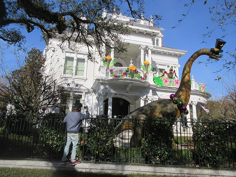 """As big parades and large gatherings are canceled this Mardi Gras season due the pandemic, more energy has been put into """"house floats"""" home decorations this year."""
