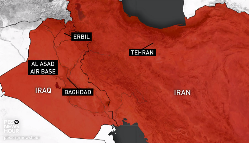 Iran missile attack on US bases.