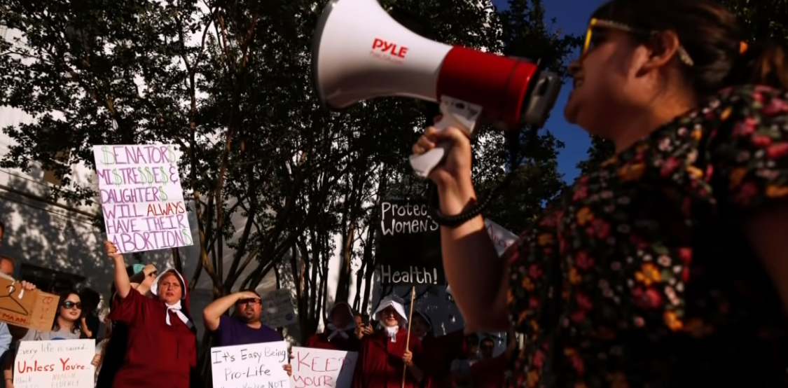 Abortion Protesters Handmaids Alabama Missouri
