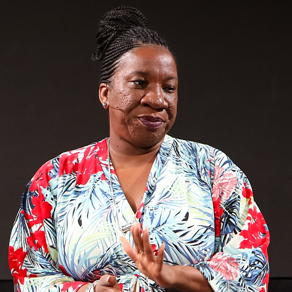 black women activists: Tarana Burke at the 2018 Disobedience Awards