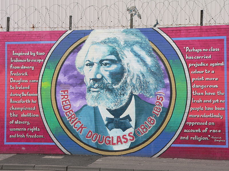 black history month for kids: a mural of frederick douglass
