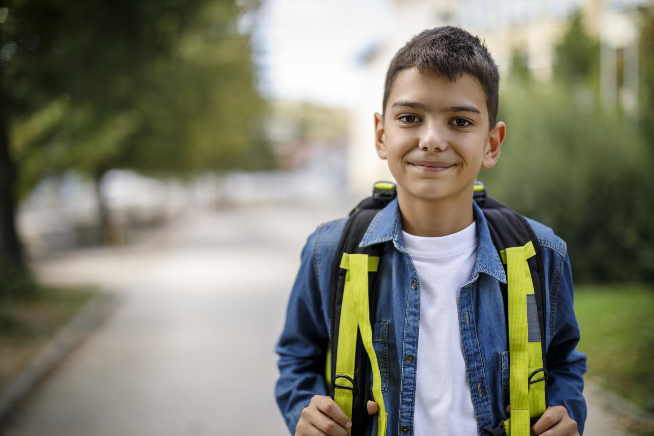happy school teen