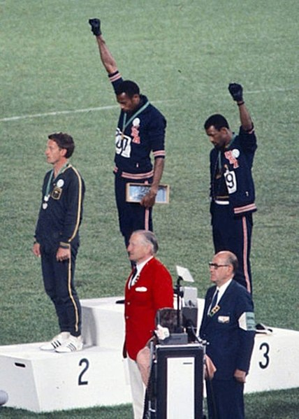 athletes protesting at the 1968 olympics