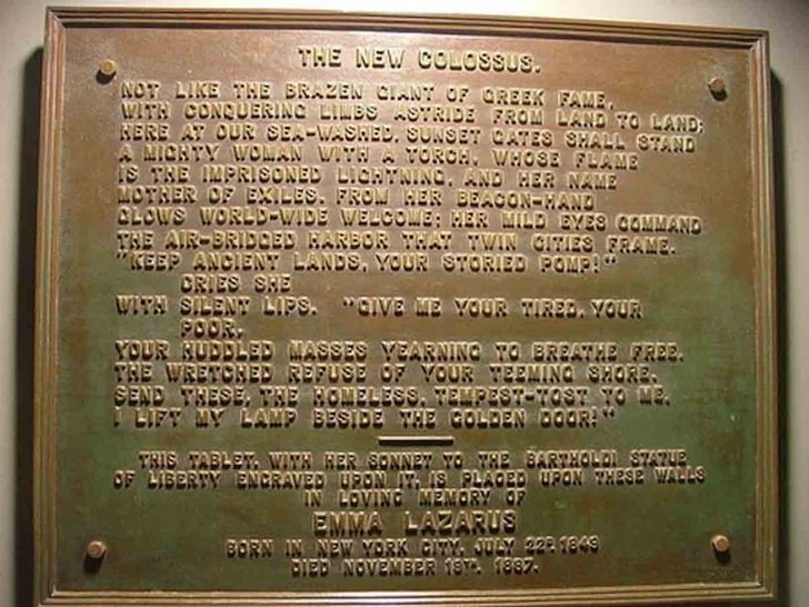 The New Colossus by Emma Lazarus. How did the poem affect immigration history?