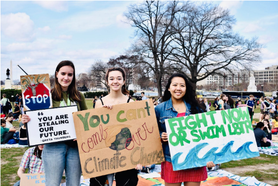 Student activism and climate change in Washington DC