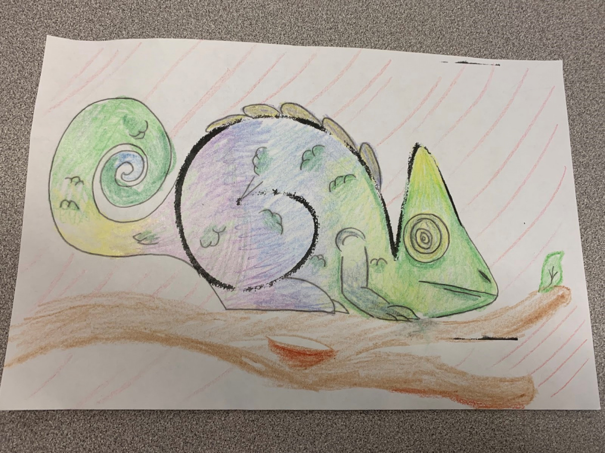 social emotional learning activities: learning sel with a squiggle chameleon