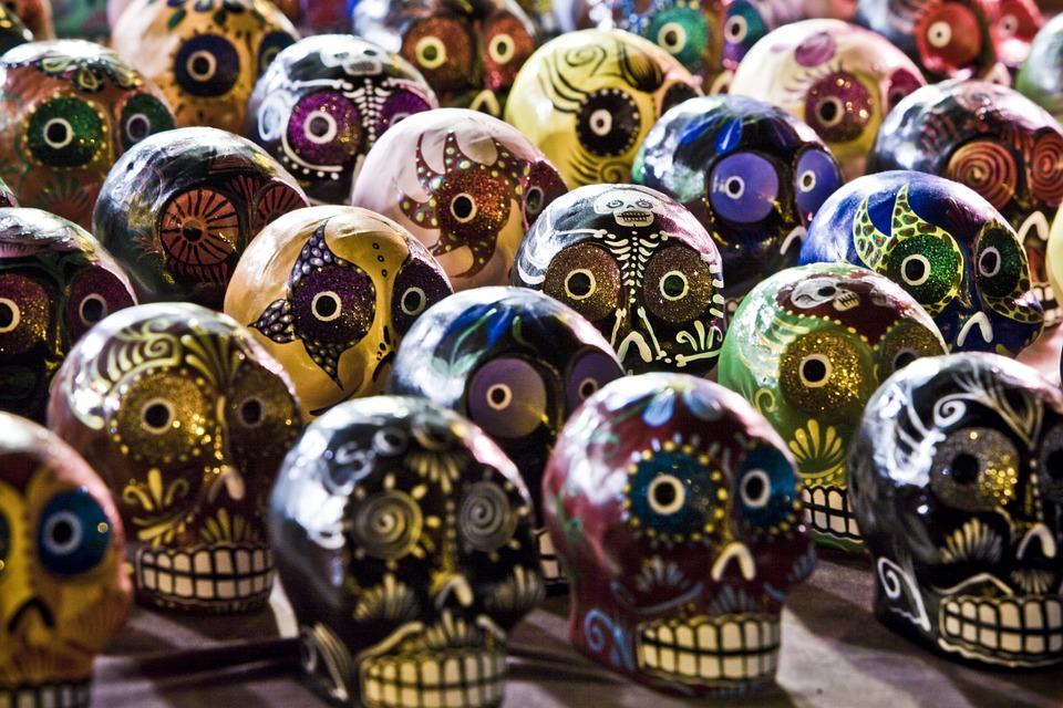 dia de los muertos skulls, or, kalaveras