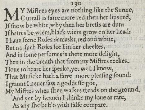 Writing Lesson Plans | Shakespeare's Sonnets - Sonnet 130 ...