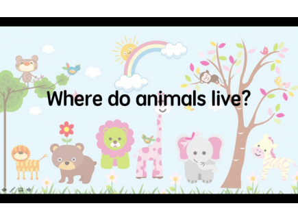 Main picture of Preposition in life - Where do animals live?