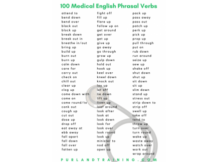 Main picture of 100 Medical English Phrasal Verbs