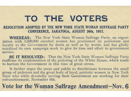 Main picture of Flier Condemning Women's Suffrage Protestors