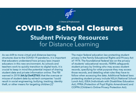 Main picture of Student Privacy Resources for Distance Learning: COVID-19 School Closures