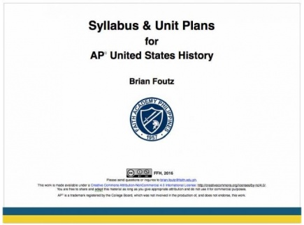 Main picture of AP US History Syllabus and Unit Plans
