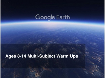 Main picture of Google Earth Education: Passport Warm Ups Ages 8-14