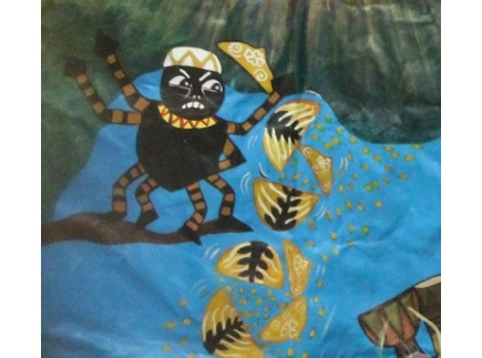 "Main picture of Sharing Abundance- SEL/ Literacy through the African trickster spider ""Anansi and the Pot of Wisdom"""