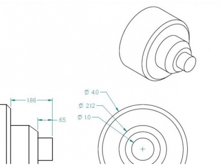Main picture of CNC Lathe Blueprint and sample canned cycle programs