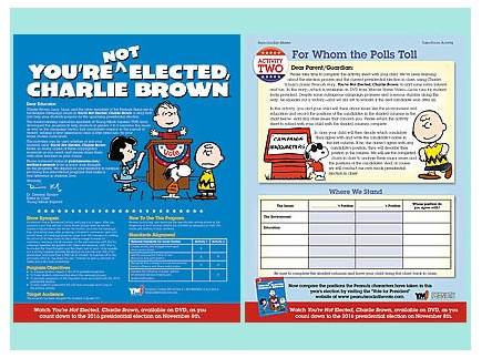 Main picture of You're Not Elected Charlie Brown (election process)