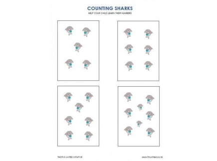 Main picture of Counting Sharks: Teaching Numbers and Counting
