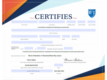 Main picture of IFT Professional Development Certificate