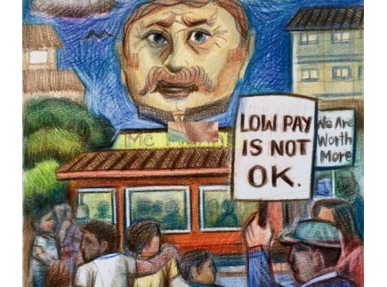 Main picture of Social justice:  picket lines and the struggle for a living wage, Grades 2-8