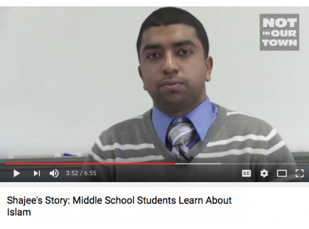 Main picture of Shajee's Story; Middle School Students Learn About