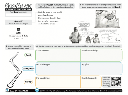 Main picture of CoreAtlas Entry/Exit Ticket: Area of complex shapes (3rd grade)