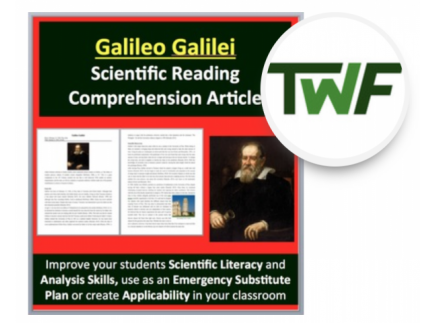 Main picture of Galileo Galilei - A Famous Scientist Reading