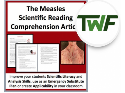 Main picture of The Measles - Science Reading Comprehension - Grade 8 and Up