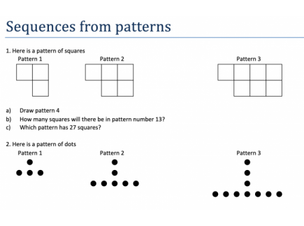 Main picture of Sequences from patterns
