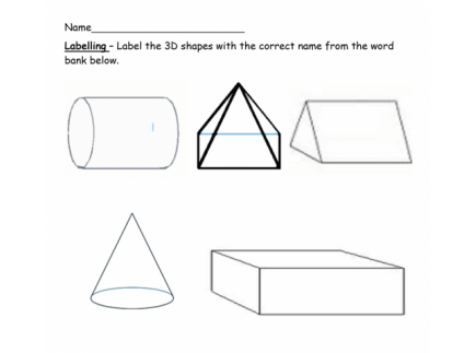 Main picture of 3D Shapes Worksheet