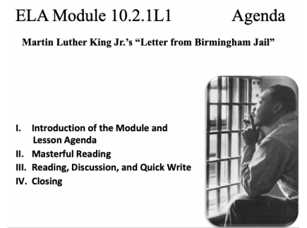 Main picture of ELA Module 10.2.1 Letter from Birmingham Jail by Martin Luther King, Jr.