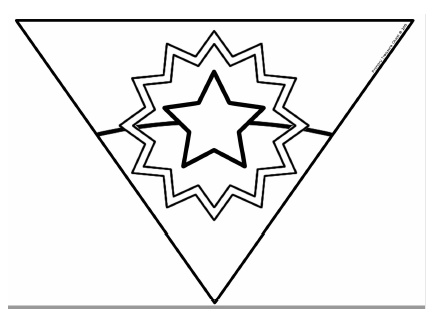 Main picture of Juneteenth bunting coloring sheets