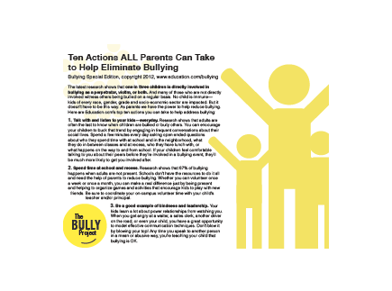 Main picture of Bullying Prevention Resources for Parents