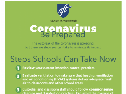 Main picture of Coronavirus Printables for Schools: Be Prepared - English and Spanish