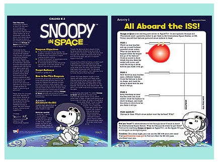 Main picture of Snoopy in Space