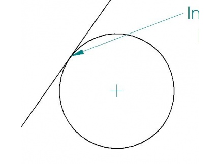 Main picture of Angled line intersecting a radius