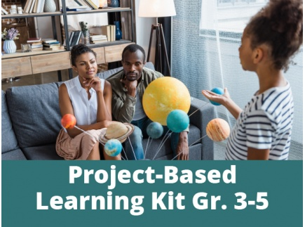 Main picture of Project-Based Learning Kits for Distance Learning: We Are All Connected for Grades 3-5