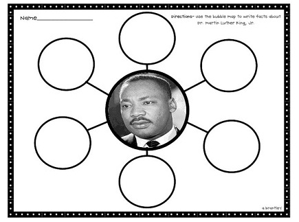 Main picture of Martin Luther King Jr. - 3 Day lesson Activity