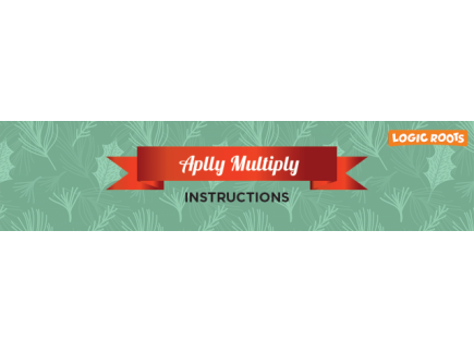 Main picture of Free Printable Christmas Multiplication Game: APPLY MULTIPLY