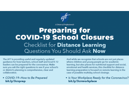 Main picture of Checklist for Distance Learning: Preparing for COVID-19 School Closure: Interactive/Printable Handouts
