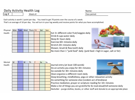 Main picture of Daily Health Log
