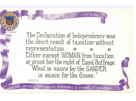 """Main picture of """"Taxation Without Representation"""" Postcard"""