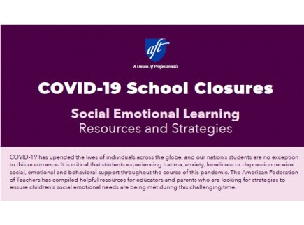 Main picture of COVID-19 School Closures: Social Emotional Learning Resources and Strategies