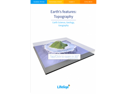 Main picture of Earth's features: Topography