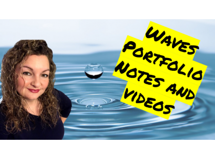 Main picture of Waves Unit Portfolio Guided Notes and Videos
