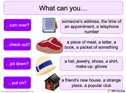 Introduction to Phrasal Verbs Off2Class Free ESL Lesson Download