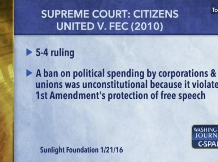 Lesson Plan: The Impact of Citizens United v. FEC (2010)