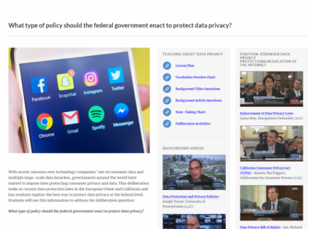 What type of policy should the federal government enact to protect data privacy?