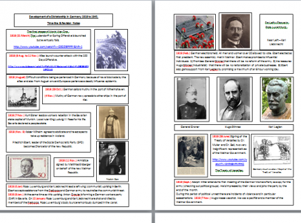 WWII Timeline (Germany 1918 - 1945) - The Development of a Dictatorship