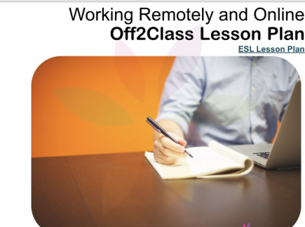 Working Remotely and Online Free ESL Lesson Download by Off2Class